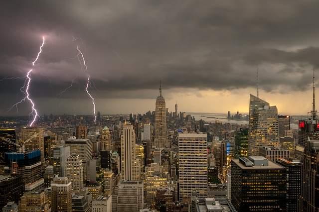 雨のニューヨーク
